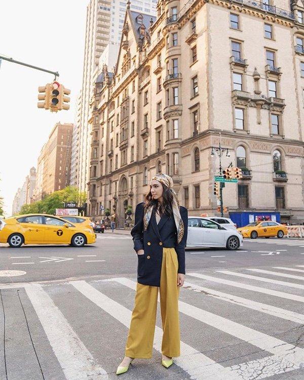 Frida Becker - blazer-calca-lenço - blazer - verão - street style