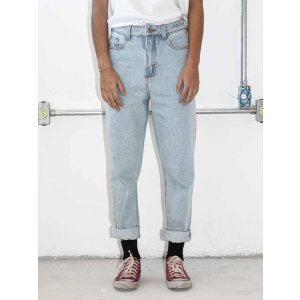 Trousers Mom Jeans Size: 36 - Color: Blue