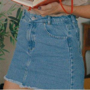 Saia Jeans Curtinha Blue Tamanho: P - Cor: Azul