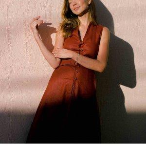 Vestido Megan Bourbon Tamanho: M - Cor: Marrom