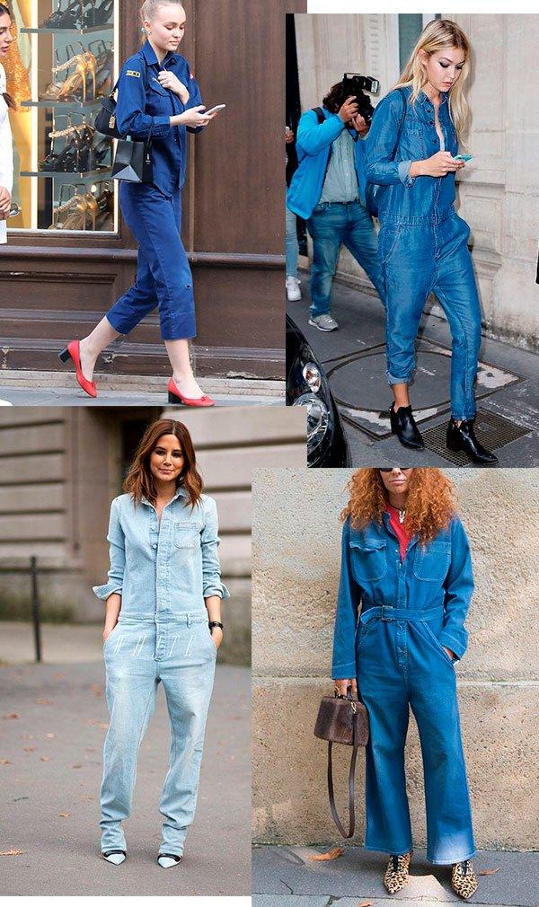 macacao - jeans - looks - street style - moda