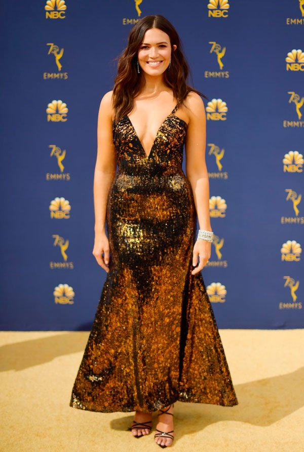 Mandy Moore - mandy-moore-emmy-awards - vestido - verão - Emmy Awards
