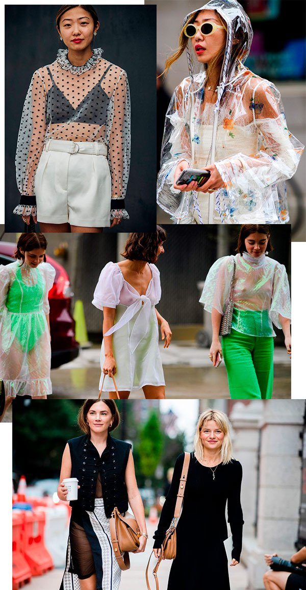 nyfw - trend - street style - transparencia - looks