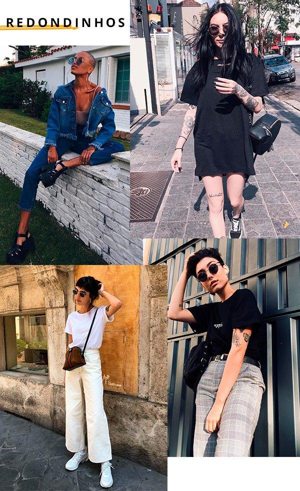oculos - redondo - looks - moda - street style