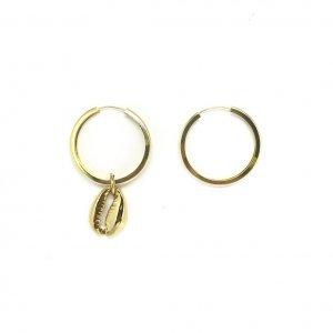 Argola Gold Coquillage Tamanho: U - Cor: Dourado
