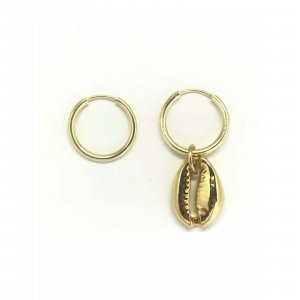 Argola Mini Gold Coquillage Tamanho: U - Cor: Dourado