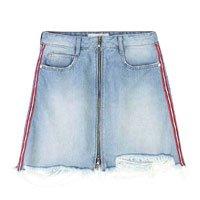 Saia Jeans Destroyed Com Detalhe Lateral