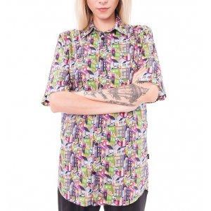 Camisa Oversized City Liberty London Tamanho:  G - Cor:  Multicolorido