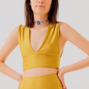 Top Anna Mostarda Tamanho: 38 - Cor: Amarelo