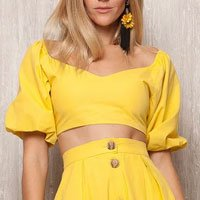 Blusa Cropped Yellow