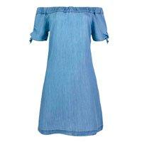 Shoulder Shoulder Dress In Liocel Jeans With Us In The Sleeves
