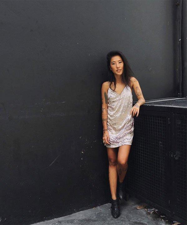 Luciane Sakon - vestido-veludo - veludo - verão - balada