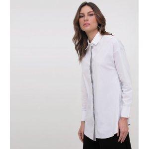 Camisa Lisa em Tricoline