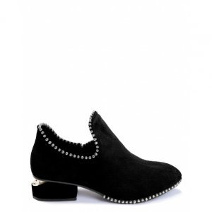 Ankle Boot Couro Metais