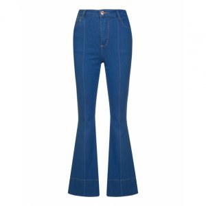 Calça Jeans Flare Alta Detalhe
