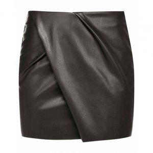Saia Curta Leather Transpassado