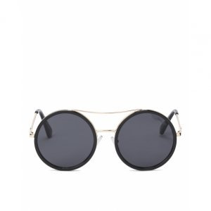 Round Sunglasses Metal Detail