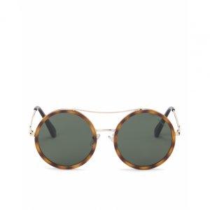 Óculos De Sol Redondo Detalhe Metal