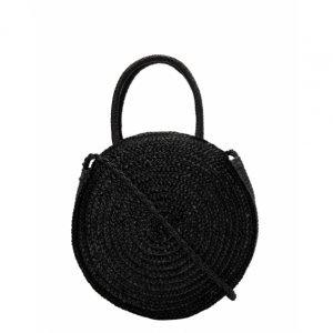 Crossbody Straw Round Bag