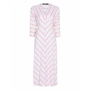 Front Zipper Viscose Dress
