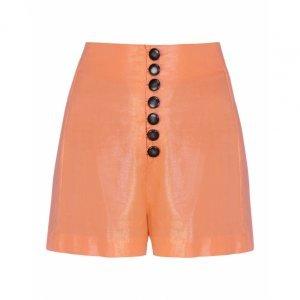 Shorts Linho Com Foil Abotoamento