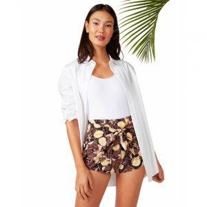 Shorts Transpassado Com Amarração