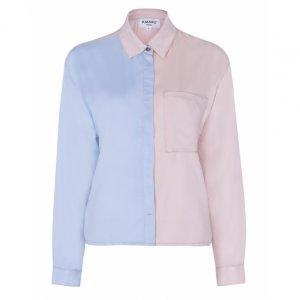 Camisa Viscose Bicolor