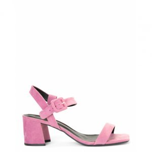 Sandals High Heel Buckle Lined