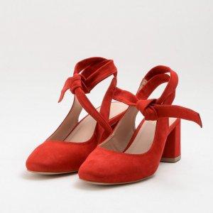 Scarpin Lace Nobuck Vermelho Tamanho: 35 - Cor: Vermelho