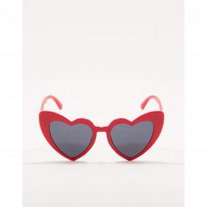 Óculos De Sol Coração Vermelho Tamanho: U - Cor: Vermelho