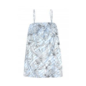 Vestido De Alças Em Tecido Tricoline Com Amarração