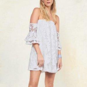 A-line Strapless Floor-length Evening Dress
