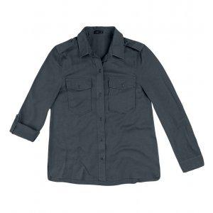 Camisa Em Tecido De Viscose Com Bolsos