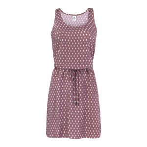 Dress Made In Viscose Fabric With Print And Tie