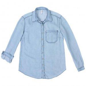 Camisa Jeans De Liocel Com Fechamento Frontal Por Botões