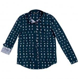 Camisa Estampada Em Tecido Viscose