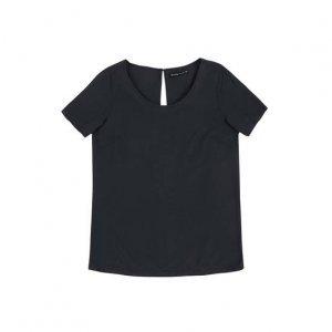 Blusa Feminina Básica Em Tecido De Viscose Com Botão Metalizado