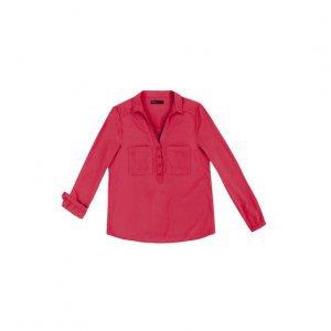 Camisa Feminina Em Tecido De Viscose Com Bolsos Frontais Hering