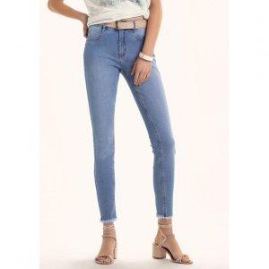Calça Jeans Na Base Shangai Com Elastano E Lavação