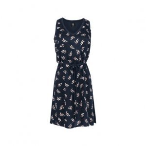 Short Viscose Dress With Knit Mix And Textured Fabric