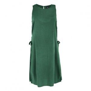 Vestido Em Tecido De Viscose Com Amarração Nas Laterais