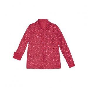Camisa Feminina Em Tecido De Algodão Com Estampa E Bolso Frontal