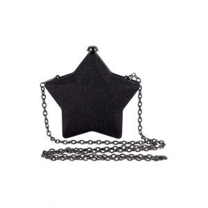Bolsa Clutch Em Forma De Estrela E Alças De Corrente