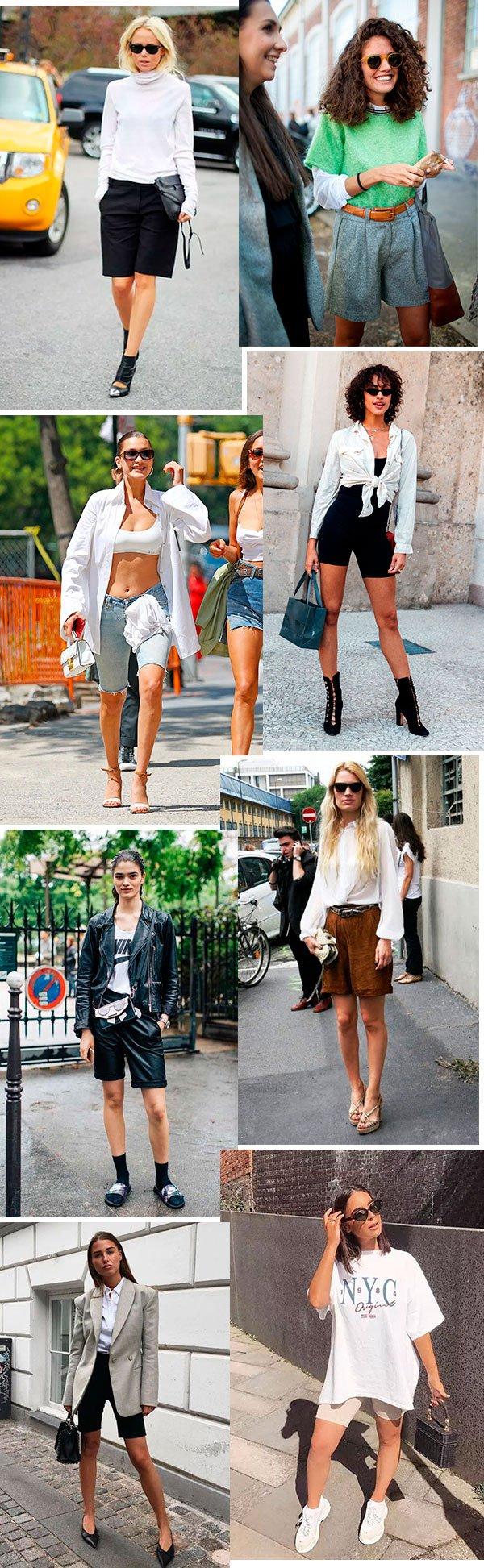 bermuda - street style - moda - look - trend