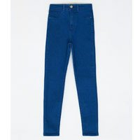 Calça Skinny Jeans com Cintura Alta