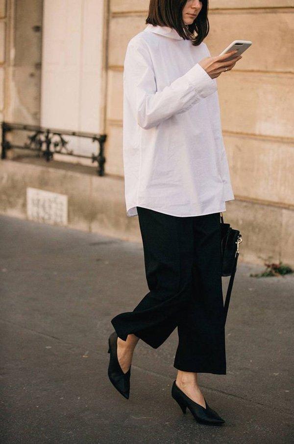 it girl - calca-preta-camisa-branca - calça-preta - verão - street style