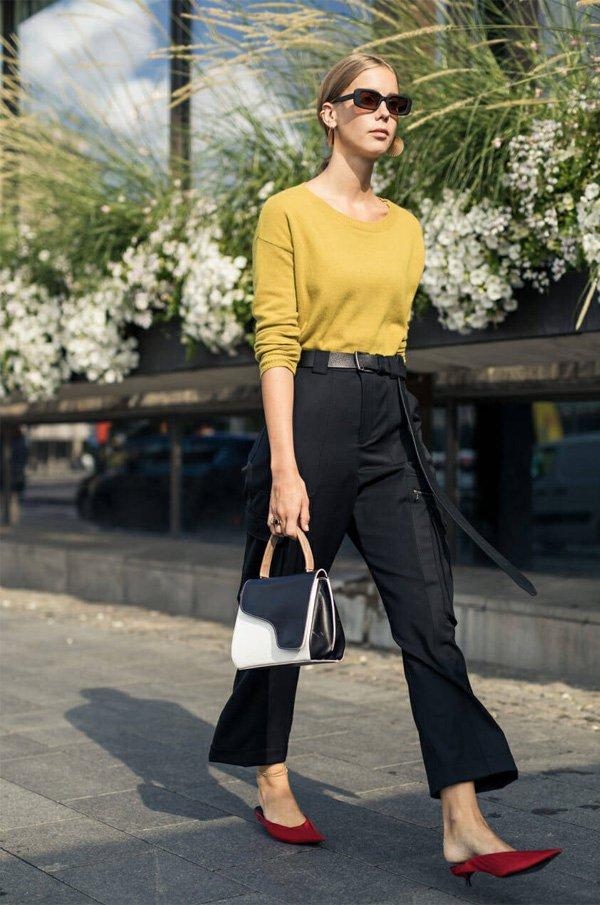 it girl - camiseta-amarela-calca-preta - calca-preta - verão - street style