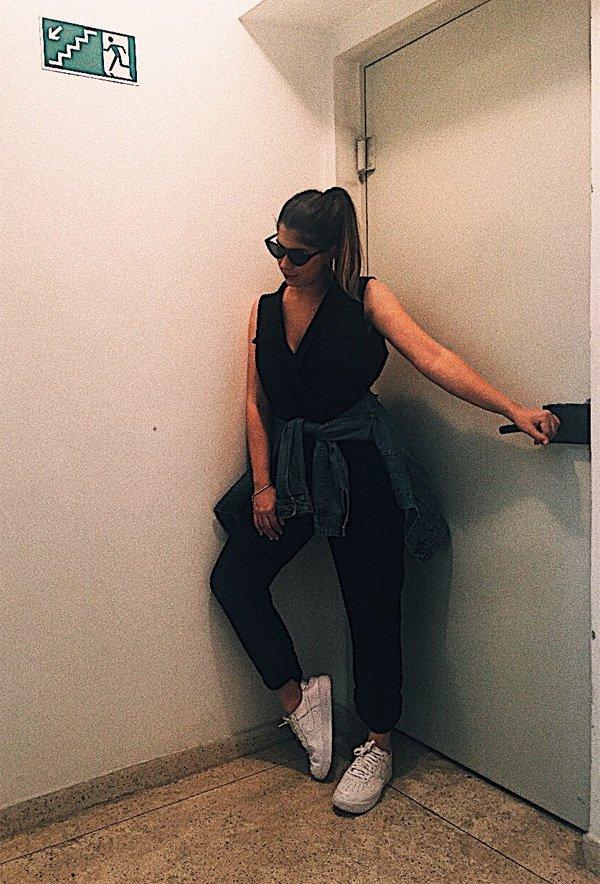 Camila Andrade - macacão-preto - macacão - verão - street style