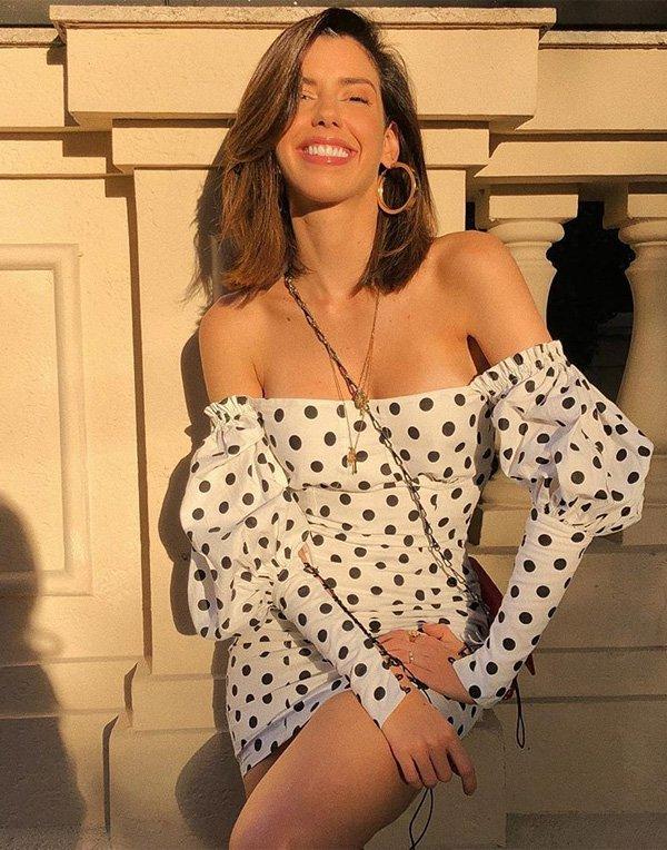 Camila Coutinho - vestido-bolinha - vestido - verão - street style
