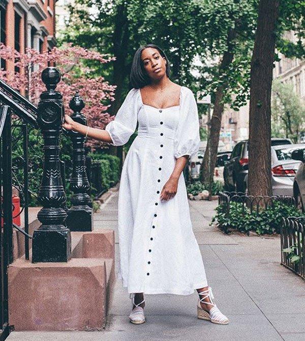 Chrissy Ford - chrissy-ford-vestido-botao-street-style - vestido-midi - verão - street-style